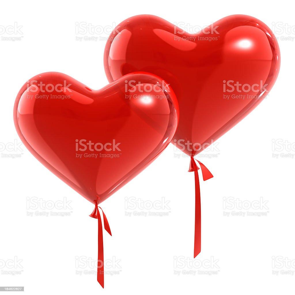 Pair Of Balloons Hearts royalty-free stock photo