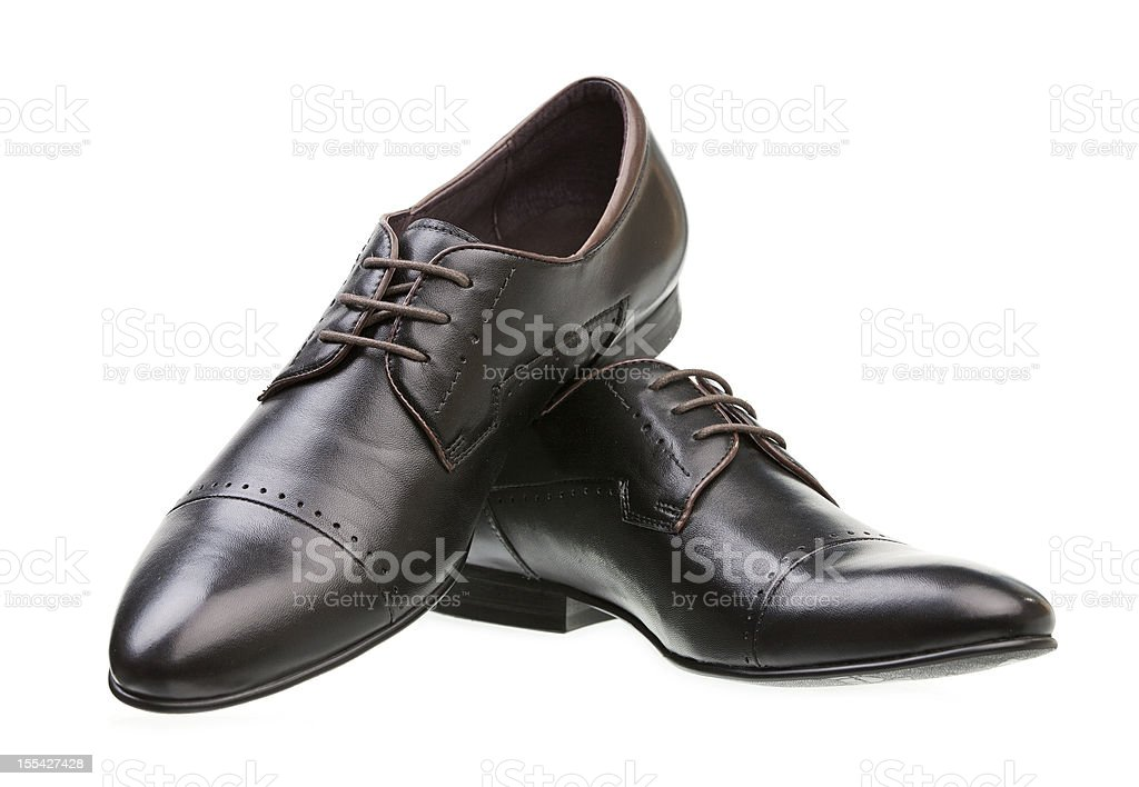 Pair of black male classic shoes royalty-free stock photo