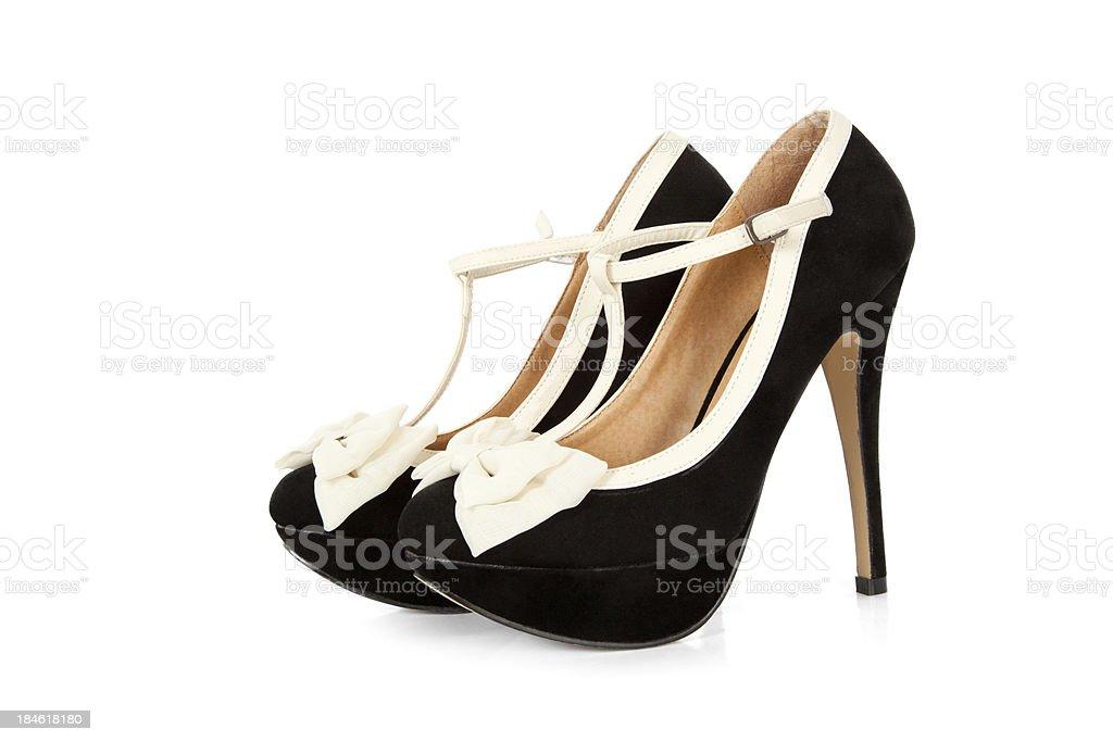 Pair of Black Stilleto Shoes royalty-free stock photo
