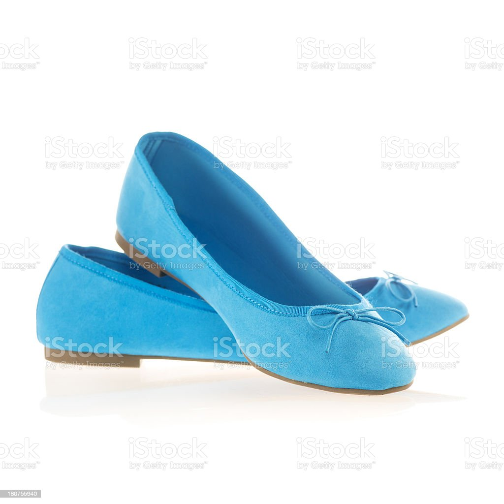 Pair of blue flats stock photo