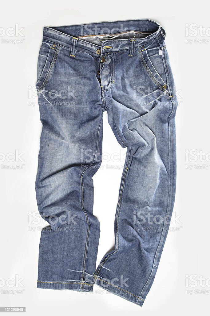 Pair of Blue Jeans stock photo