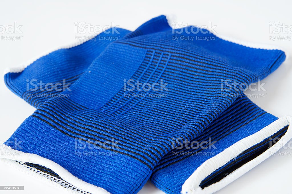 Pair of blue sport supporters on white background stock photo