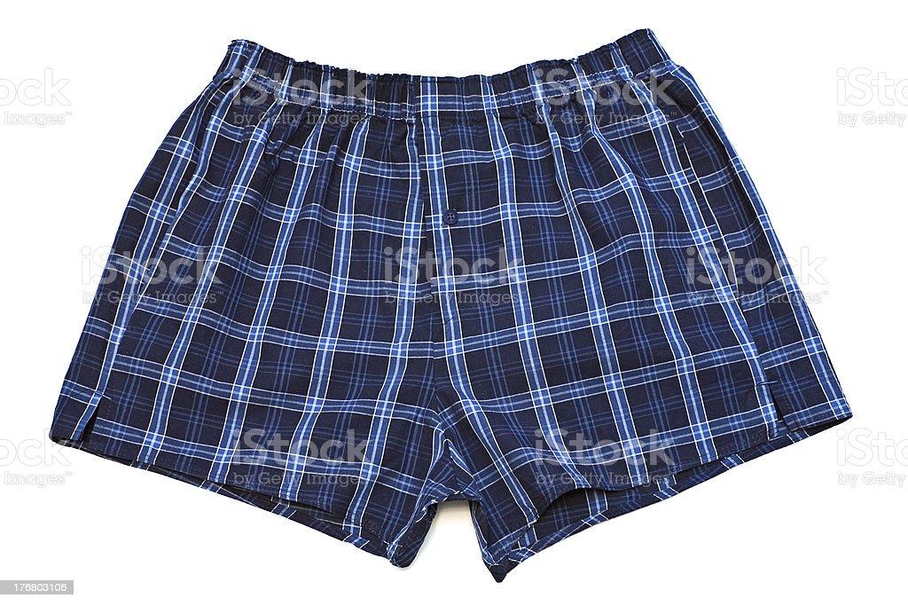 Pair of boxer shorts. royalty-free stock photo