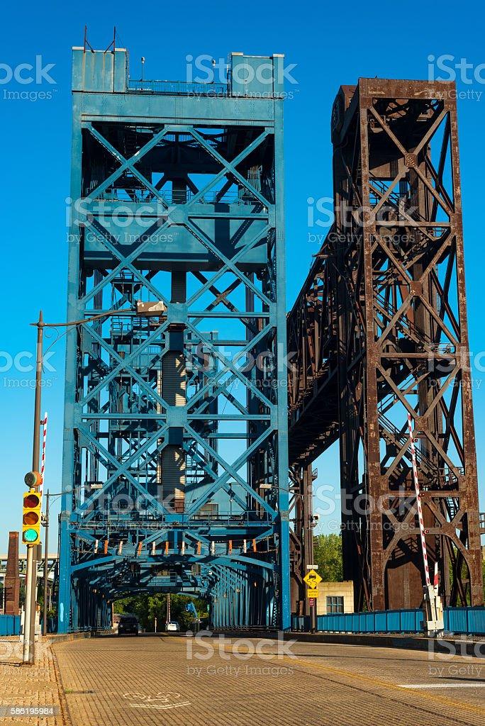 Pair of bridges stock photo
