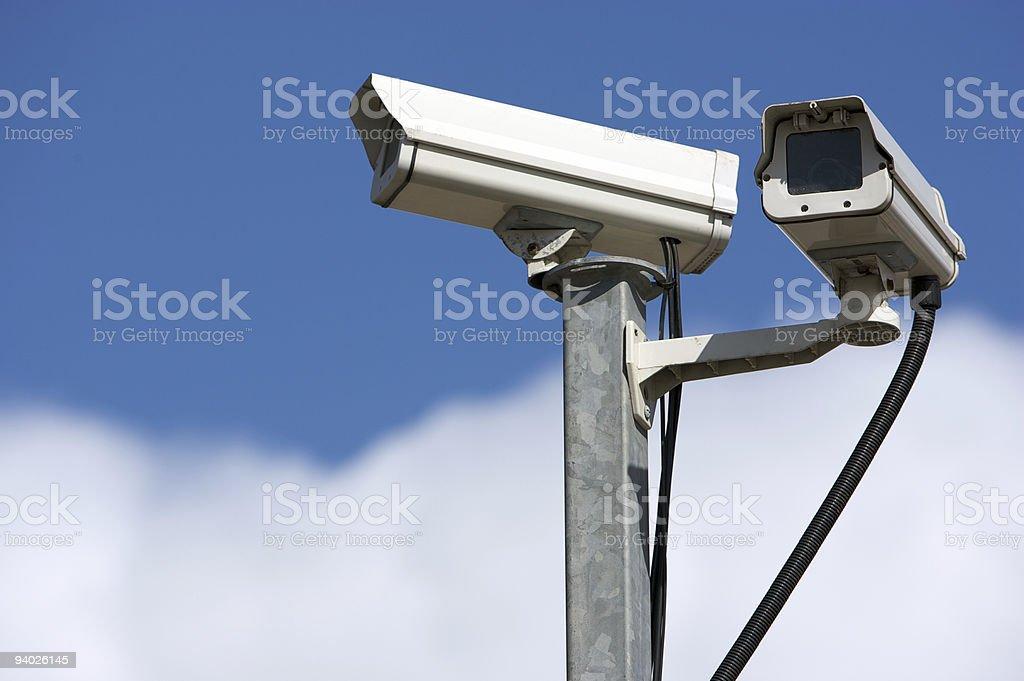 Pair of CCTV Cameras royalty-free stock photo