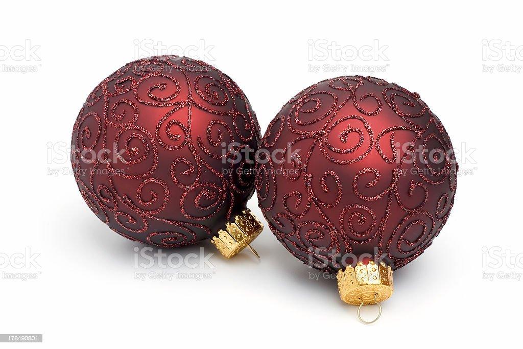 Pair of Christmas Tree Ornaments II royalty-free stock photo
