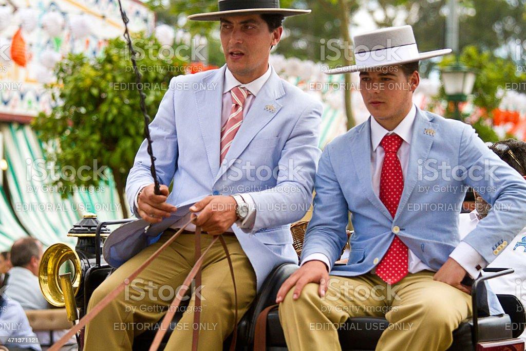 pair of coachman in the Seville April Fair stock photo