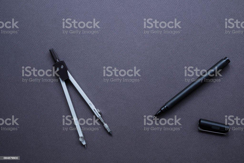 Pair of Compass stock photo