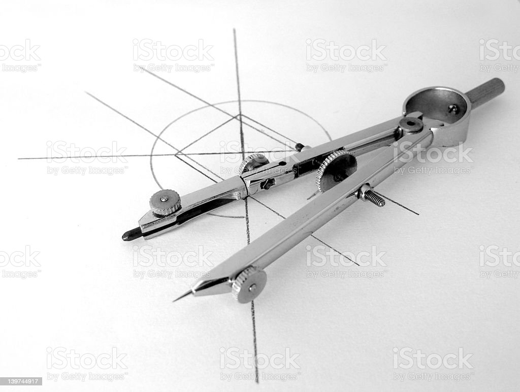 Pair of Compasses royalty-free stock photo