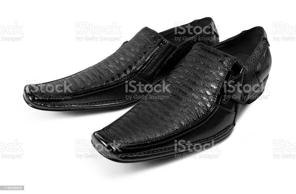 pair of dark shoes royalty-free stock photo