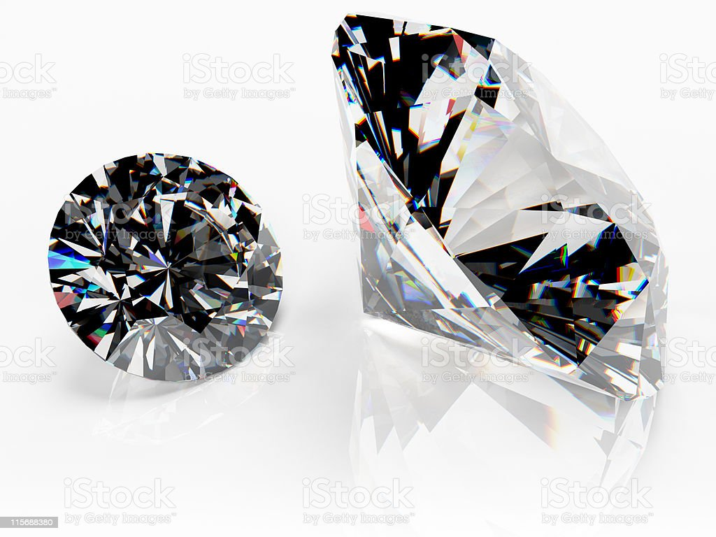 Pair of diamonds (catchlight) stock photo