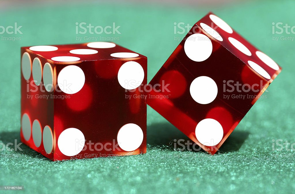 Pair of Dice - Close Up royalty-free stock photo