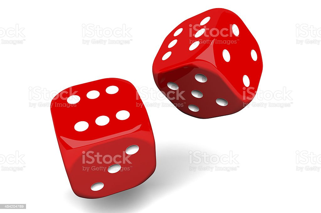 pair of dices royalty-free stock photo