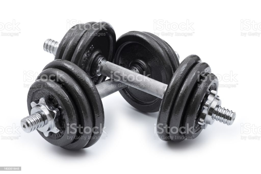 Pair of Dumbbells... royalty-free stock photo