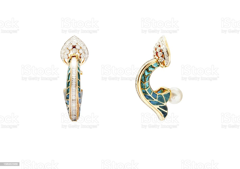 Pair of earrings royalty-free stock photo