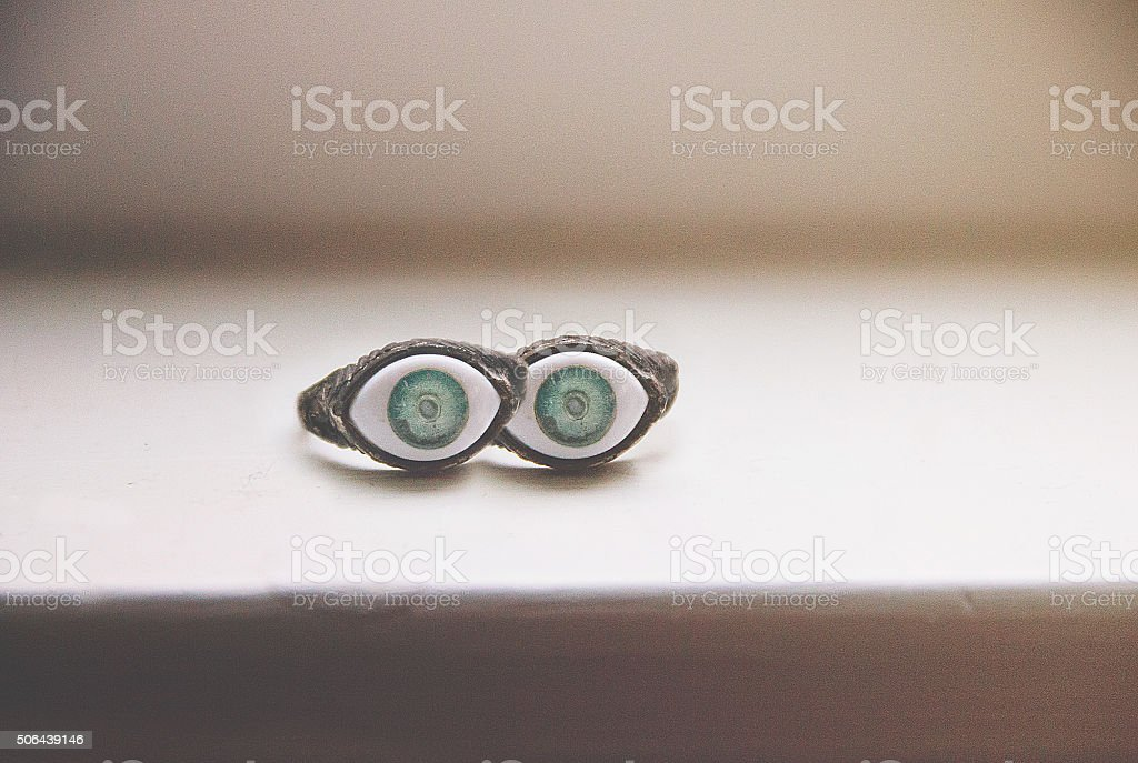 Pair of eyes stock photo