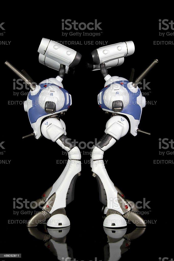Pair of Fighting Machines stock photo