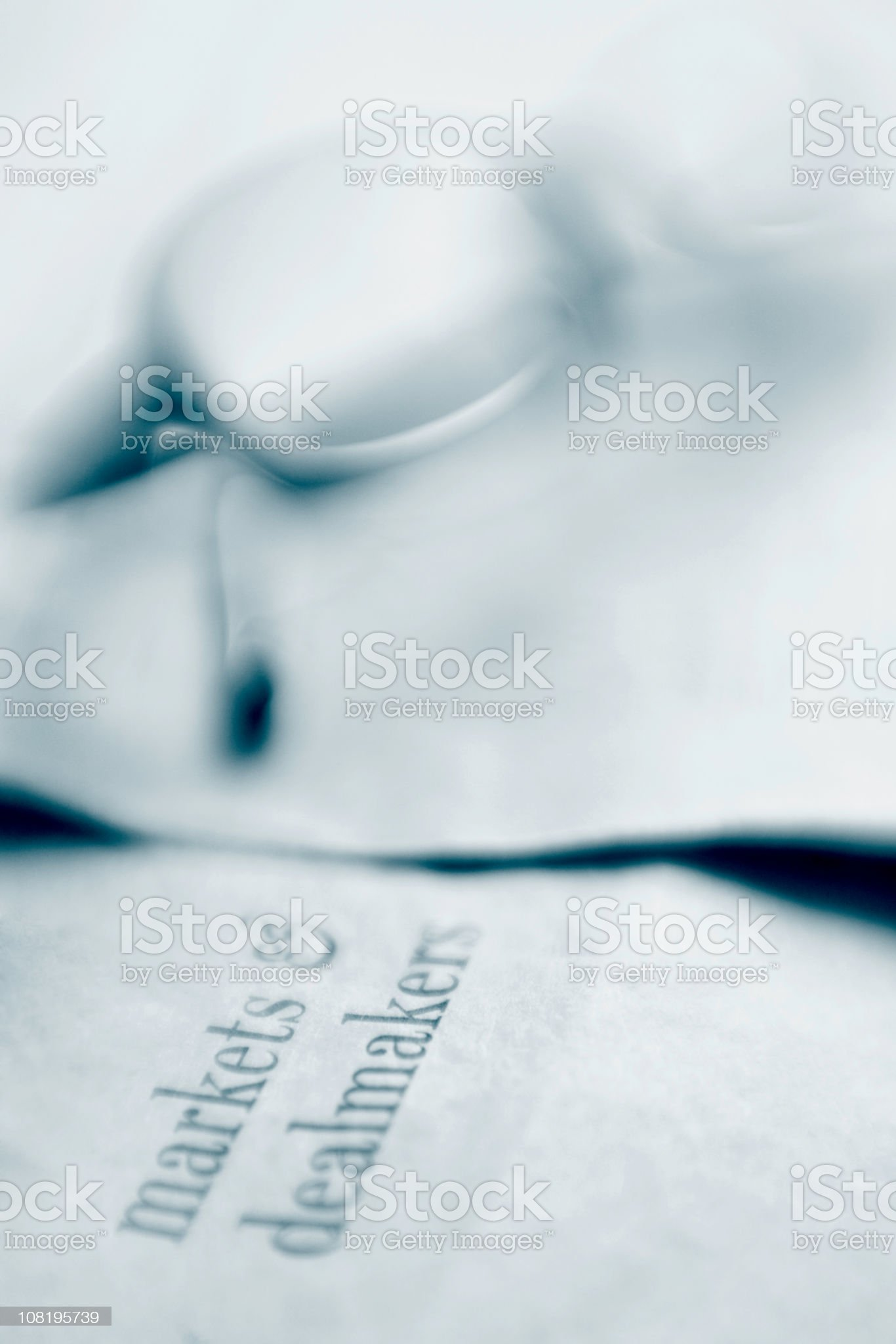 Pair of Glasses Sitting on Newspaper royalty-free stock photo