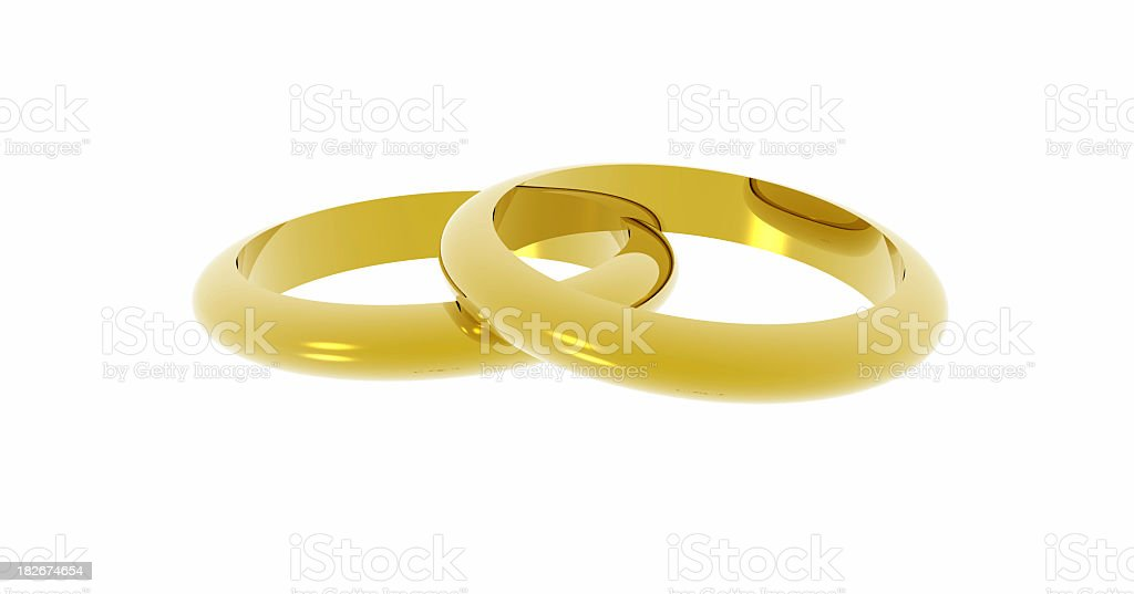 Pair of golden bands. royalty-free stock photo