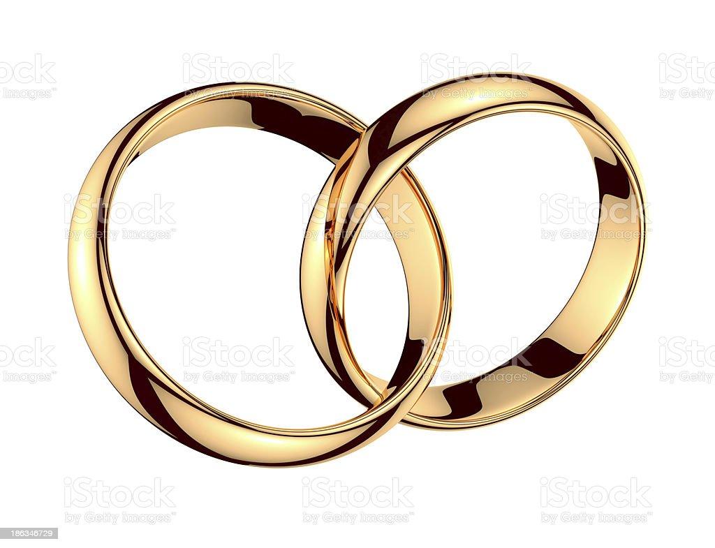 Pair of golden rings stock photo