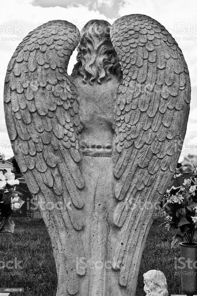 Pair of Granite Angel Wings stock photo