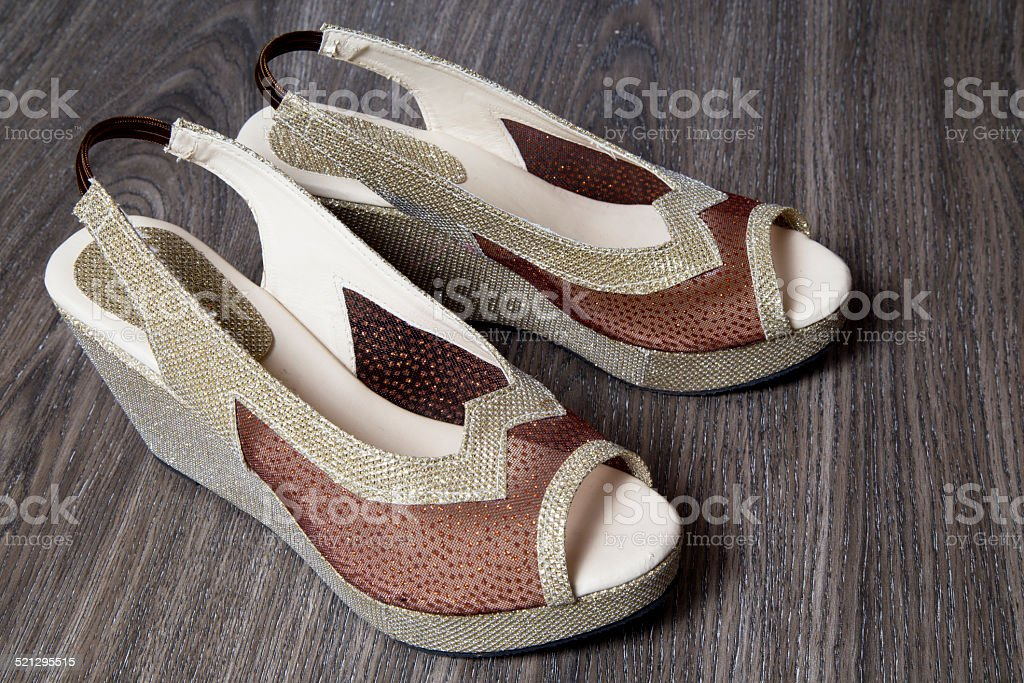 Pair of high heels for woman stock photo