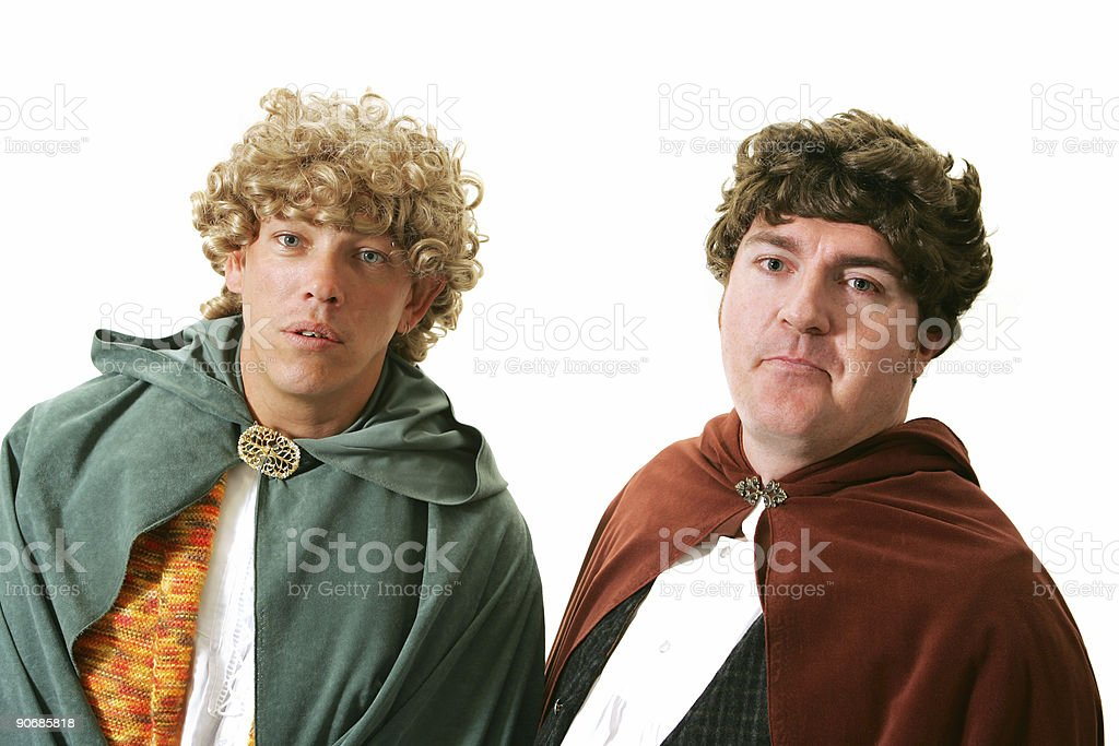 Pair of Hobbits stock photo