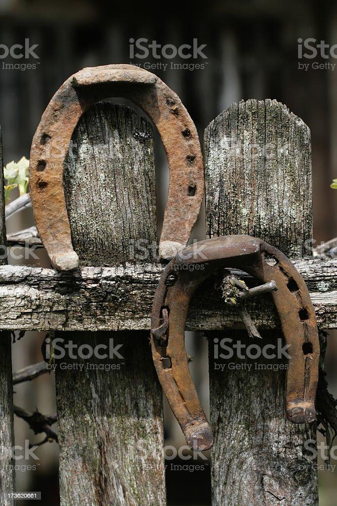 Pair of Horseshoe royalty-free stock photo