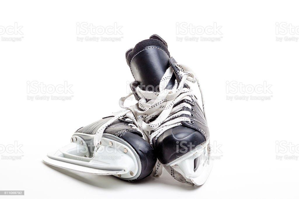 Pair of Ice Hockey Skates stock photo