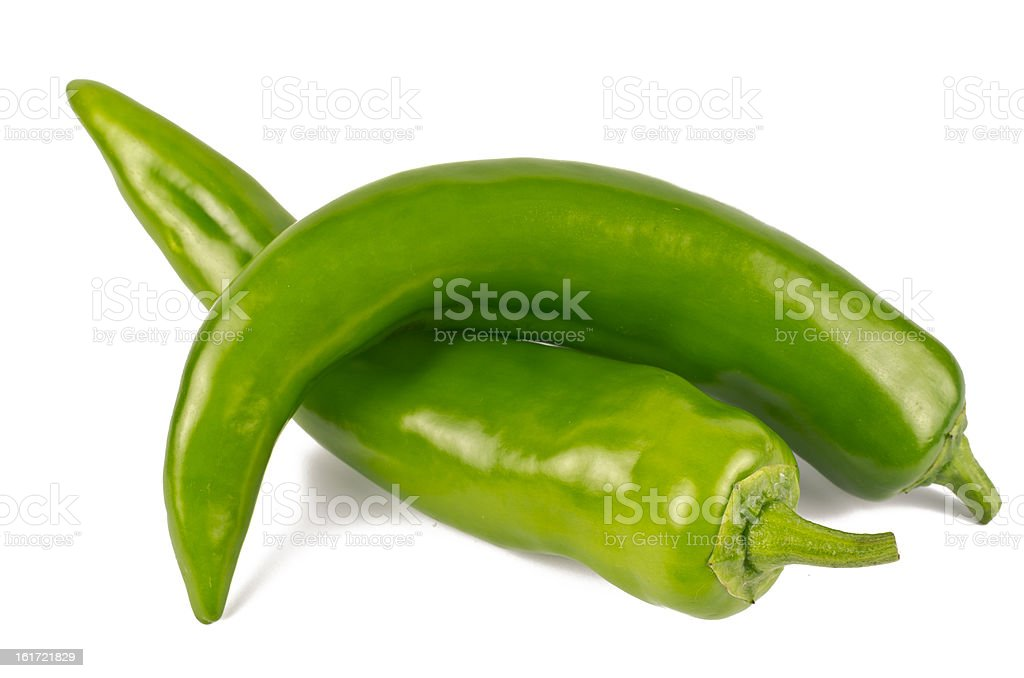 Pair of Jalapenos (Green Chilies) royalty-free stock photo