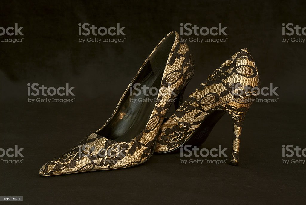 Pair of Lacy High Heels stock photo