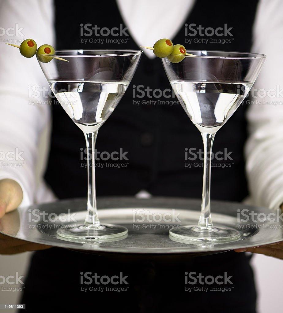 Pair of Martini royalty-free stock photo