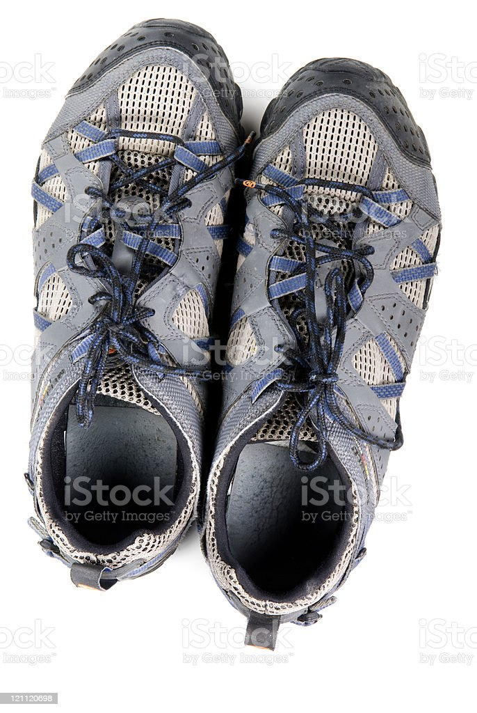 Pair of Men's sneakers stock photo