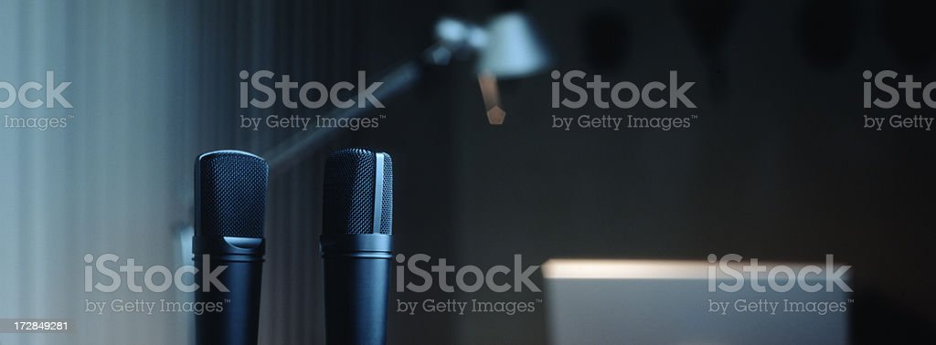 Pair of Microphones stock photo