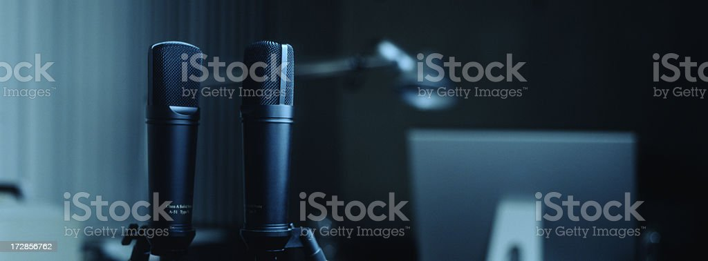 Pair of Mikes royalty-free stock photo