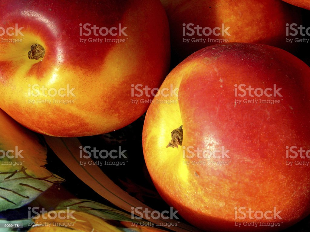Pair of nectarines royalty-free stock photo