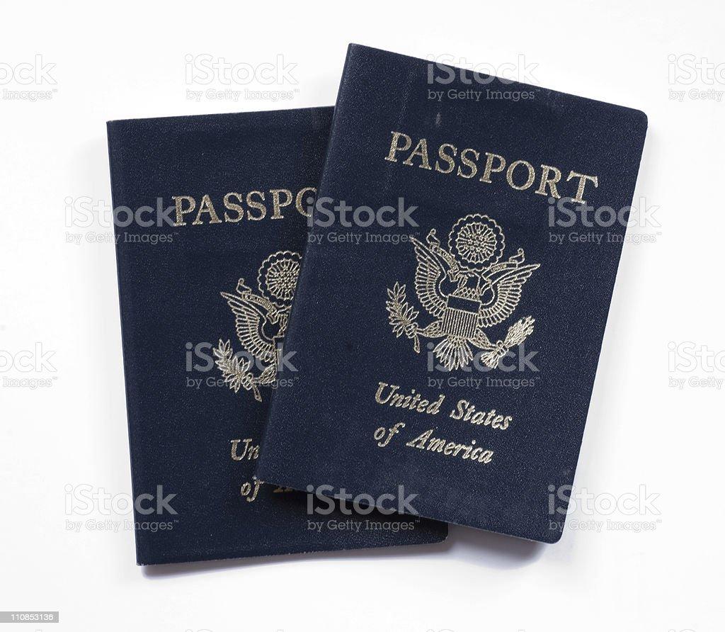 Pair of Passports stock photo
