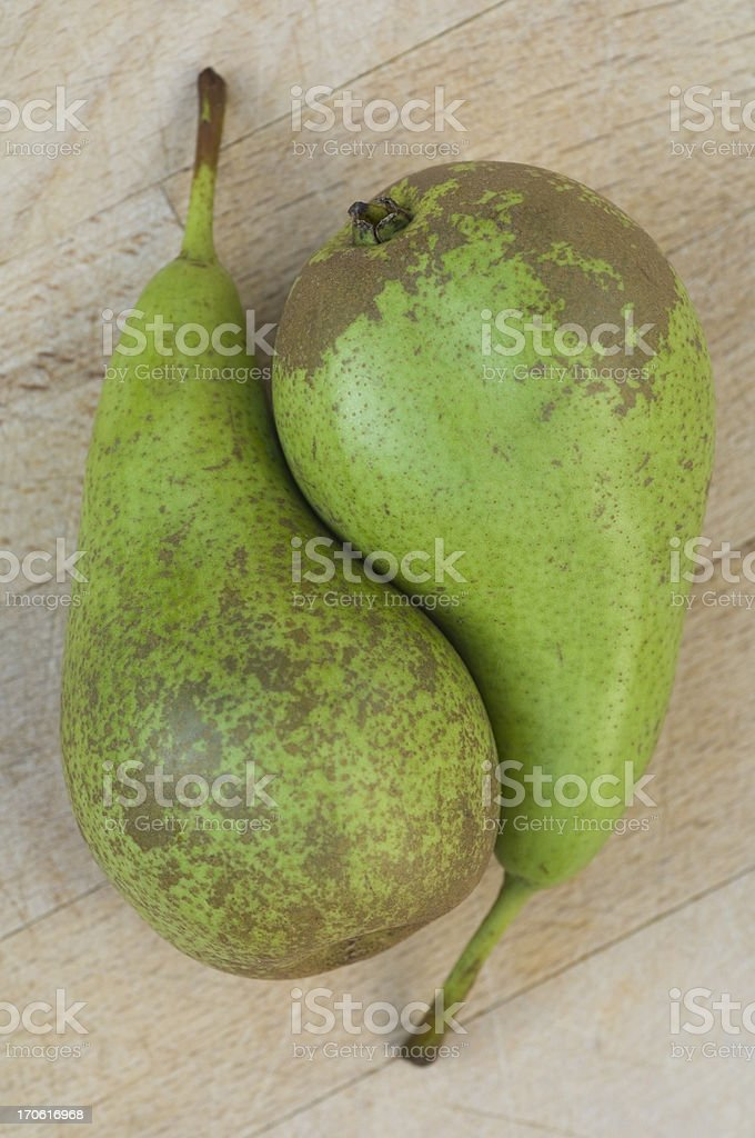 Pair of pears stock photo
