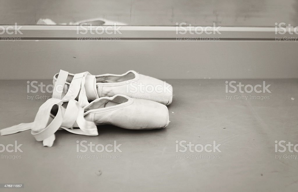pair of pointe shoes royalty-free stock photo
