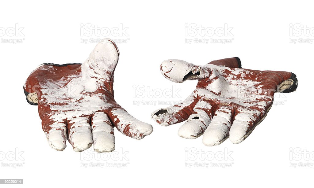 Pair of protection gloves stock photo