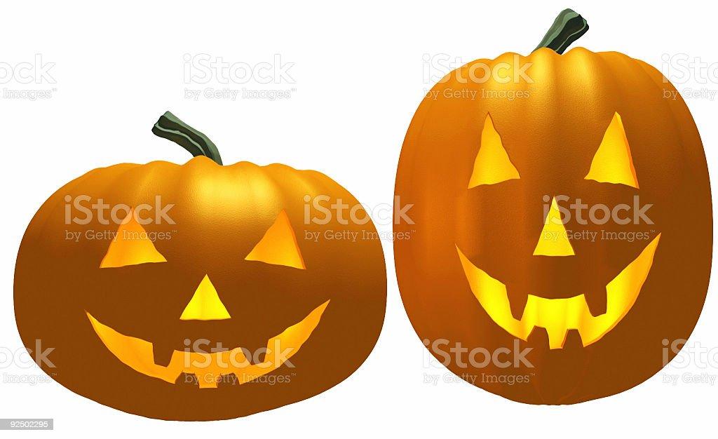 Pair of Pumpkins royalty-free stock photo
