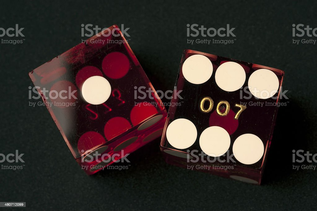 Pair of red dice stock photo