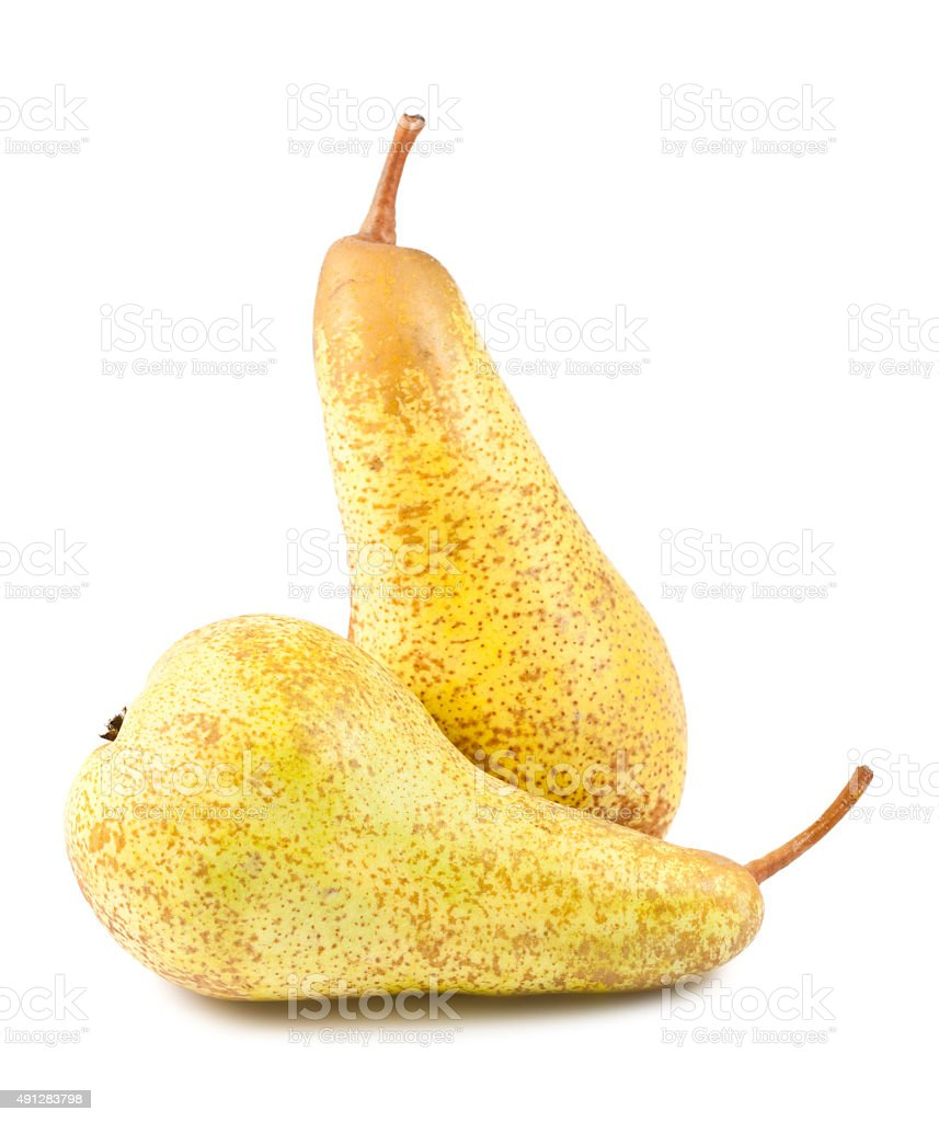 Pair of ripe pears stock photo