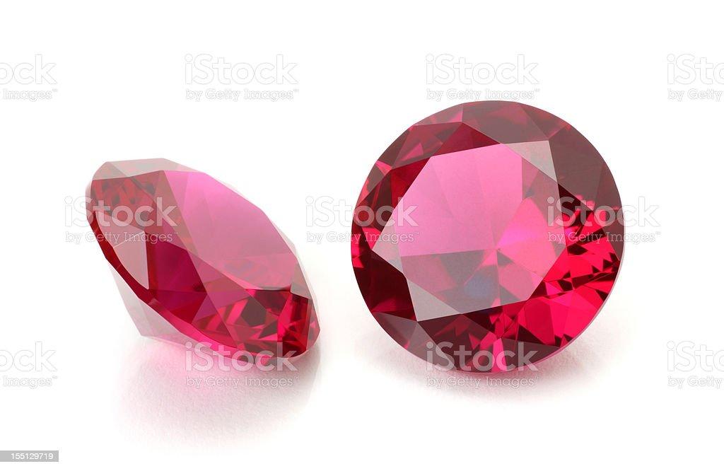 Pair of Round Ruby stock photo