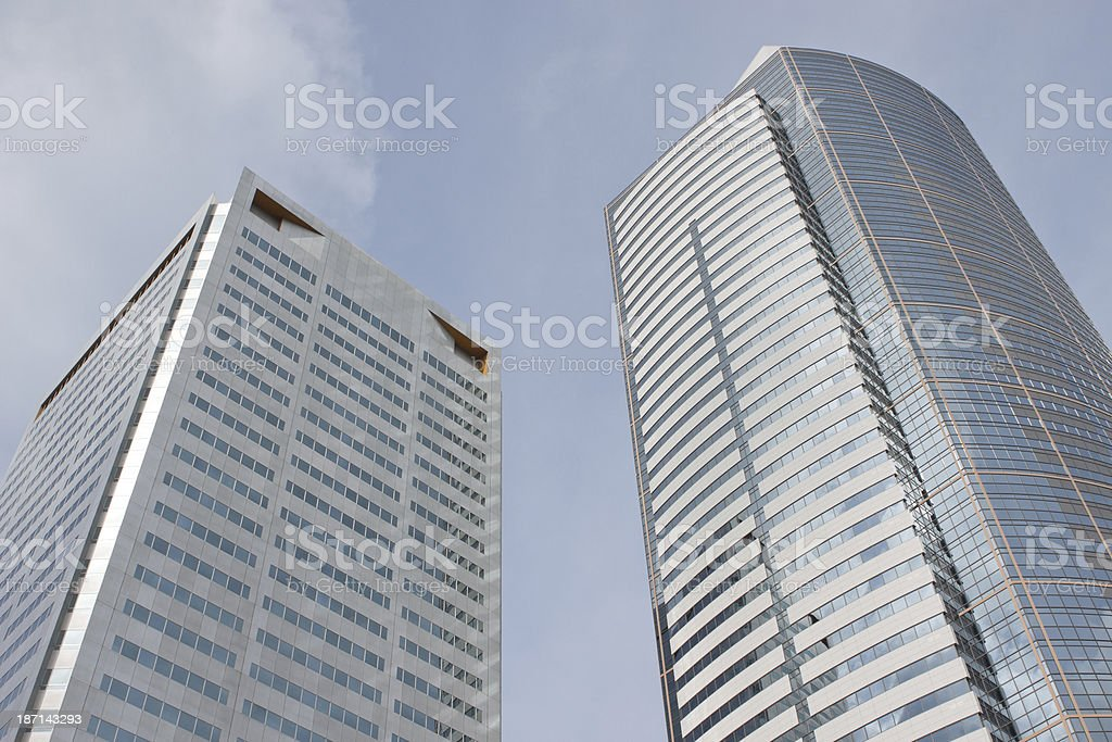 Pair of Skyscrapers royalty-free stock photo