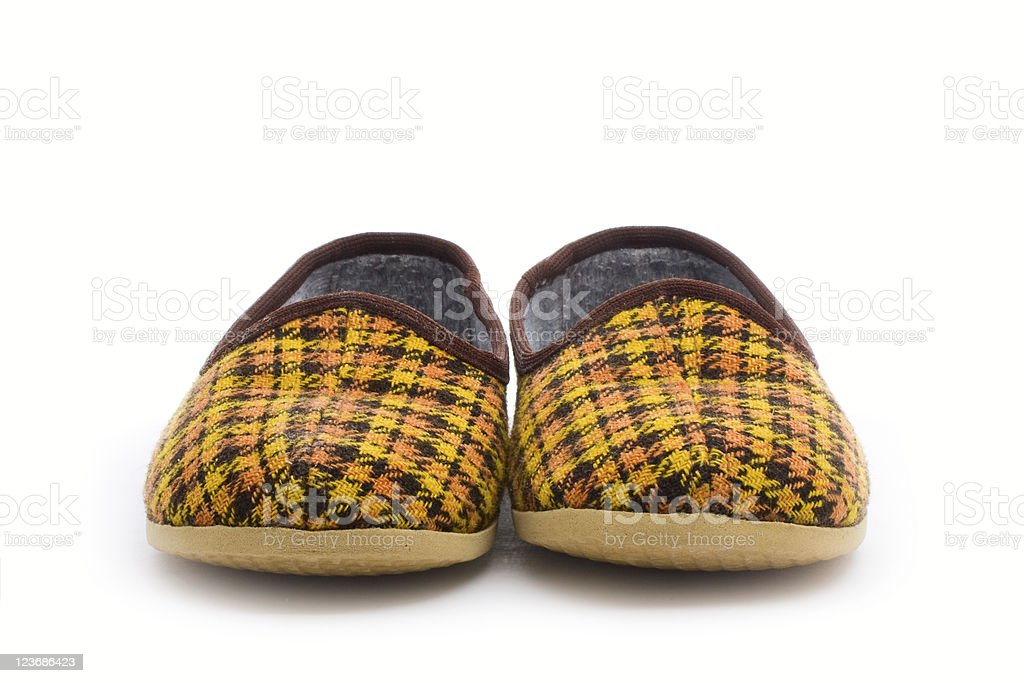 pair of slippers royalty-free stock photo