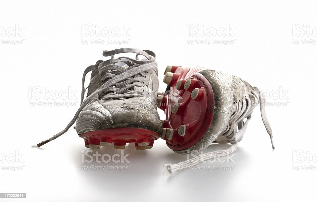 pair of soccer shoes stock photo