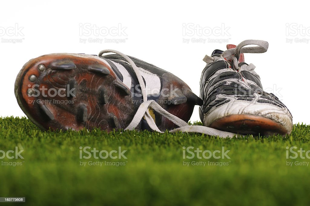 Pair of Soccer Shoes royalty-free stock photo