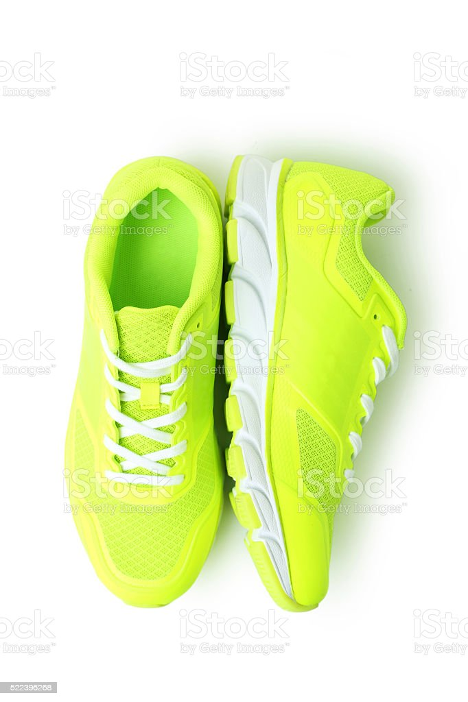 Pair of sport shoes isolated on white stock photo