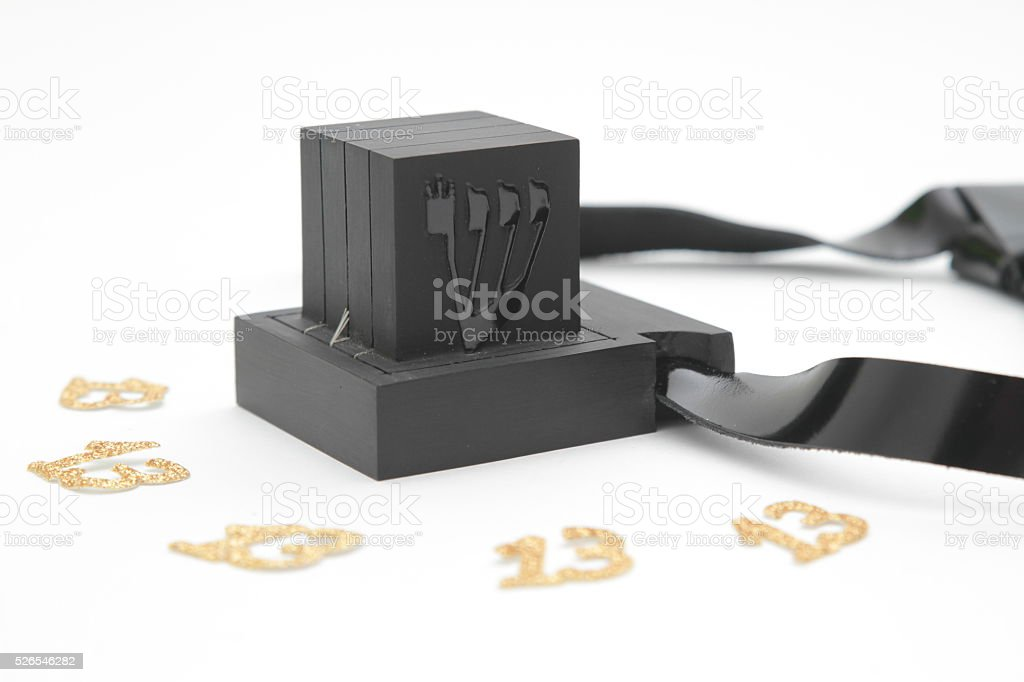 pair of tefillin and Tallit A symbol of the Jewish people stock photo